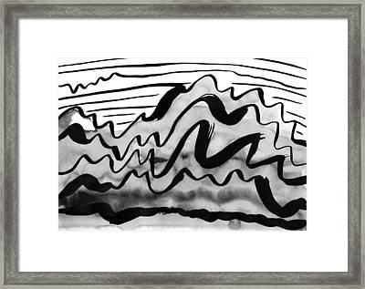 Ink Mountains Framed Print