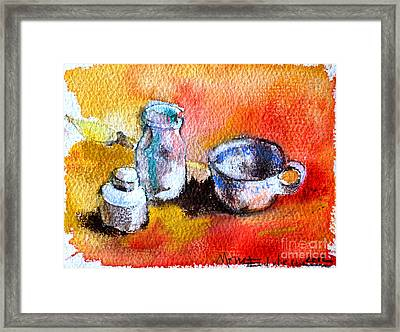 Ink Painting Tools Framed Print by Mona Edulesco
