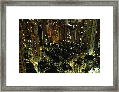 Inland View Of Sheung Wan And Central Framed Print by Justin Guariglia