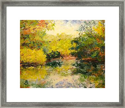 Framed Print featuring the painting Inlet by Joe Bergholm
