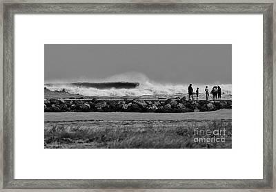 Inlet Storm Surf Framed Print by Lynda Dawson-Youngclaus