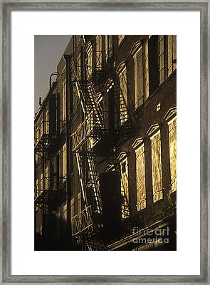 Inner City Fire Escapes Framed Print by Will & Deni McIntyre