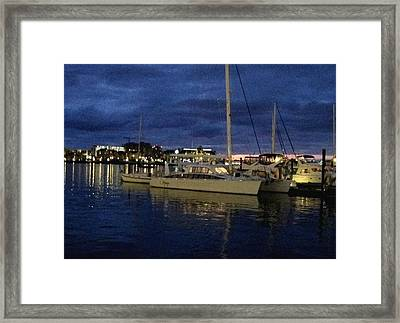 Inner Harbour At Night Framed Print