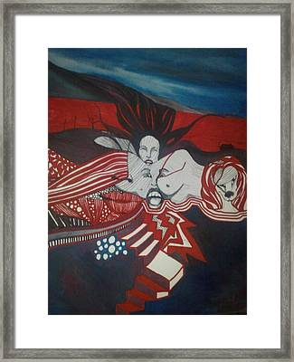 Framed Print featuring the painting Inner Landscape by Susan  Solak