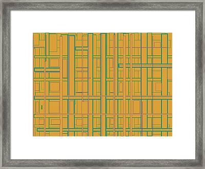 Inner Plumbing Framed Print by Naomi Jacobs