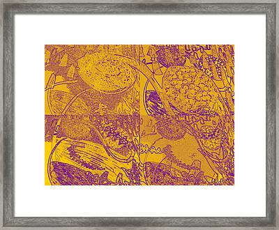 Inner Self - Golden Frequency Framed Print by Maria Mars