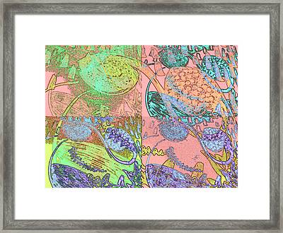 Inner Self - Pink Frequency Framed Print by Maria Mars