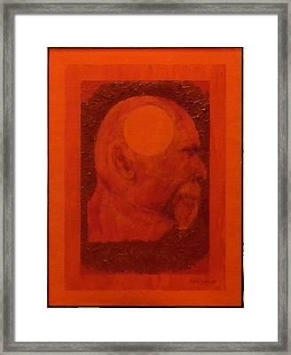 Inner Space Or The Dot Within Framed Print by Gilbert Bernhardt