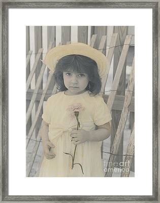Framed Print featuring the photograph Innocence by Lori Mellen-Pagliaro