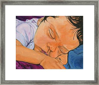 Framed Print featuring the painting Innocence by Wendy Shoults
