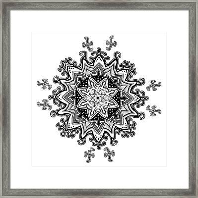 Innocent Snowflake Framed Print by Ansel Cummings