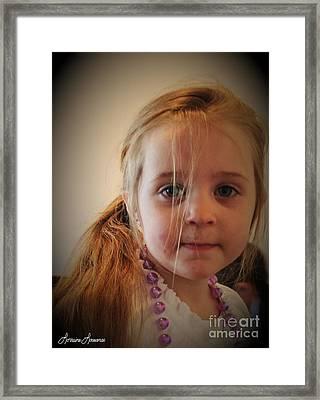 Innocents 3 Framed Print by Lorraine Louwerse