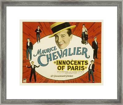 Innocents Of Paris, Maurice Chevalier Framed Print by Everett