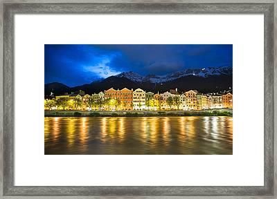 Innsbruck At Night Framed Print by John B. Mueller Photography