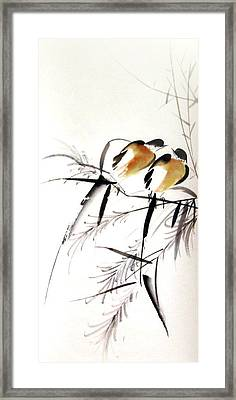 Inseparable Couple Framed Print by Ming Yeung