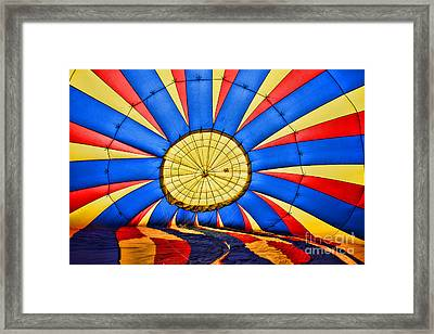 Inside A Hot Air Balloon Framed Print by Paul Ward