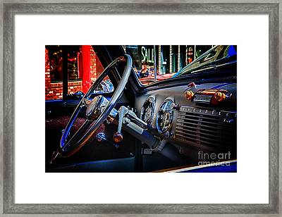 Inside Chevy Framed Print by Lori Frostad