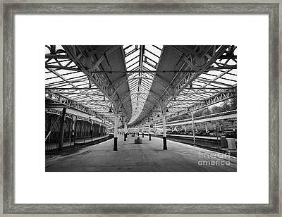 Inside Platforms At Weymss Bay Railway Station Scotland Uk Framed Print by Joe Fox
