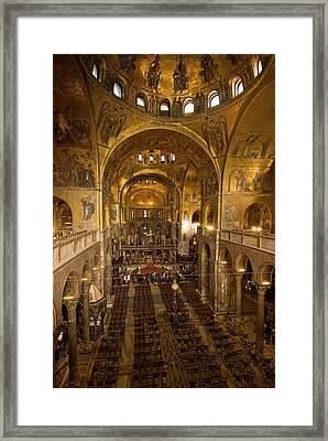 Inside San Marcos Basilica Framed Print by Jim Richardson