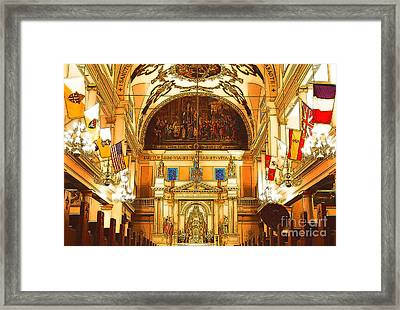 Inside St Louis Cathedral Jackson Square French Quarter New Orleans Digital Art Framed Print by Shawn O'Brien