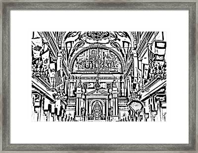Inside St Louis Cathedral Jackson Square French Quarter New Orleans Photocopy Digital Art Framed Print by Shawn O'Brien