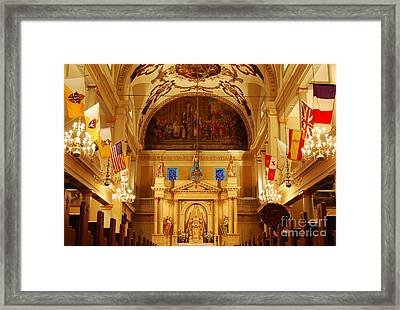 Inside St Louis Cathedral Jackson Square French Quarter New Orleans Framed Print by Shawn O'Brien