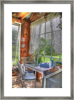 Inside The Cottage Framed Print