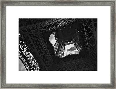 Framed Print featuring the photograph Inside The Eiffel Tower by Eric Tressler