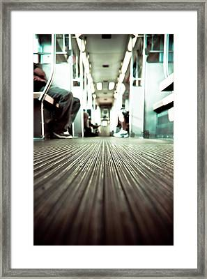 Inside The L At A Low Angle Framed Print
