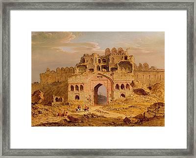 Inside The Main Entrance Of The Purana Qila - Delhi Framed Print by Robert Smith