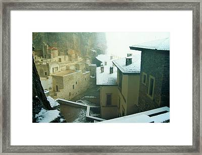 Framed Print featuring the photograph Inside The Monastery by Lou Ann Bagnall