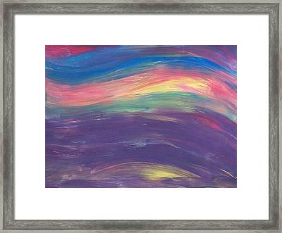 Inside The Rainbow Framed Print by Jeanette Stewart