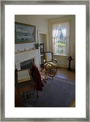 Framed Print featuring the photograph Inside Yaquina Bay Lighthouse by Mick Anderson