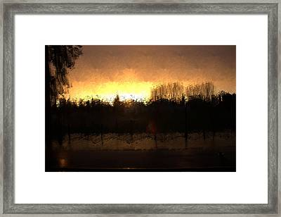 Framed Print featuring the mixed media Insomnia II by Terence Morrissey