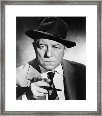 Inspector Maigret, Aka Maigret Tend Un Framed Print by Everett