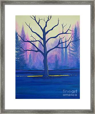 Inspiration Tree Framed Print by Stacey Zimmerman