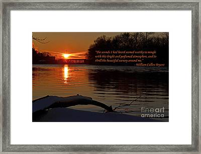 Inspirational Sunset With Quote Framed Print by Sue Stefanowicz