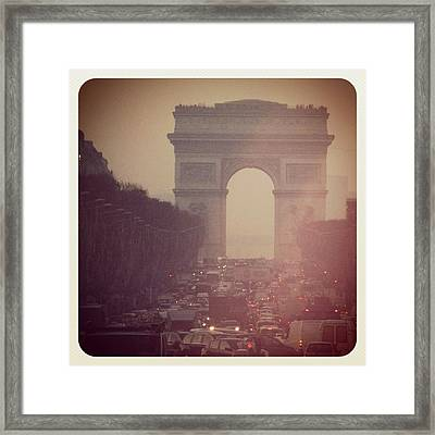 Instagram Photo - L'arc De Triomphe - Paris Framed Print