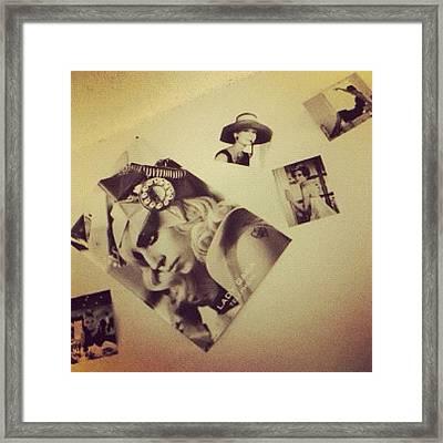Instagram Photo Framed Print