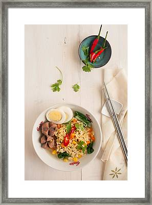 Instant Noodle Framed Print by photo by Asri' rie