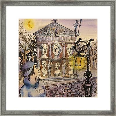 Framed Print featuring the painting Institute Of Sculpture by Valentina Plishchina