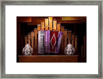 Instrument - Accordian - The Accordian Organ  Framed Print