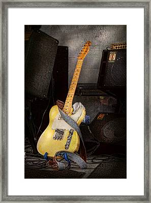 Instrument - Guitar - Playing In A Band Framed Print by Mike Savad