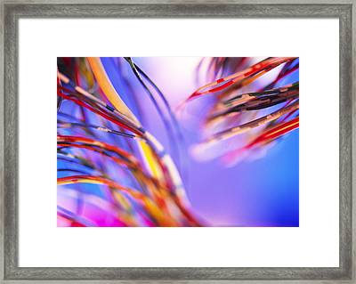 Insulated Electronic Wires Framed Print by Chris Knapton