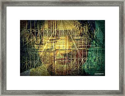 Insurmountable Barriers And Illusory Of Our Minds Framed Print by Paulo Zerbato