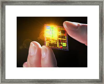 Integrated Circuit Framed Print by Geoff Tompkinson