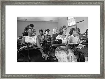 Integrated Classroom At Anacostia High Framed Print by Everett