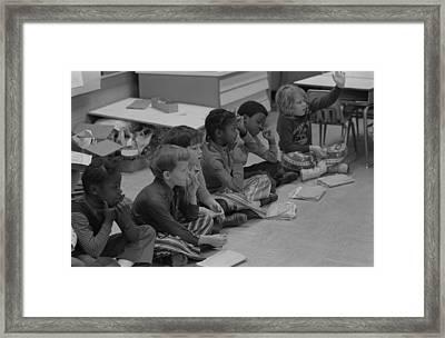 Integrated First Grade Class Of African Framed Print by Everett