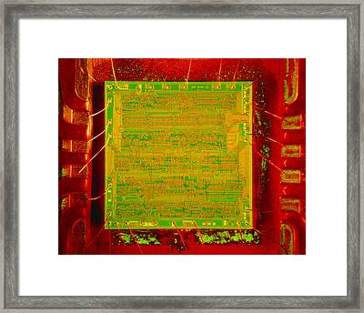 Integrated Microchip Framed Print by David Parker.