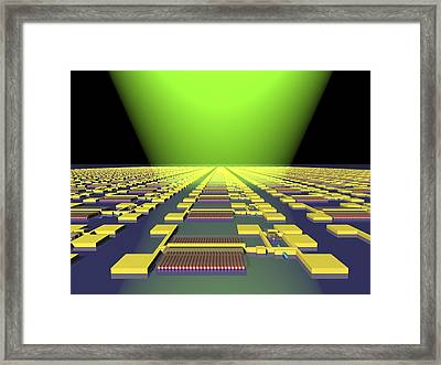 Integrated Nanowire Circuit, Artwork Framed Print by Lawrence Berkeley National Laboratory